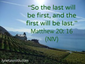 First and last, Matthew 20:16